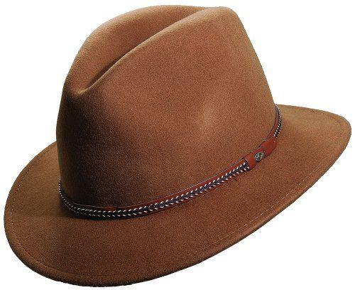 646105e5a28a5 Scala Classico Men s Crush Felt Safari With Braid Hat