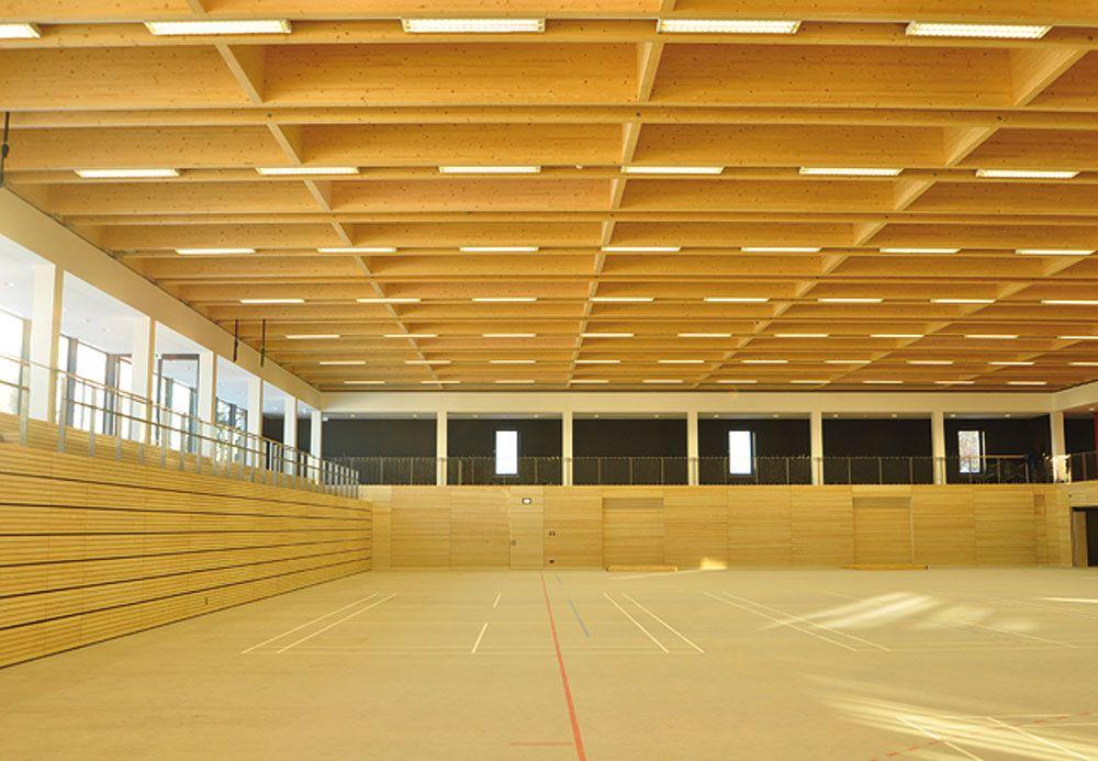 Projekt dreifach sporthalle 39 panoramarena for Innenraumdesign studium