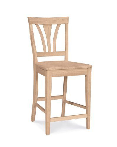 International Concepts S 9182 24 Inch Fanback Stool Unfinished By