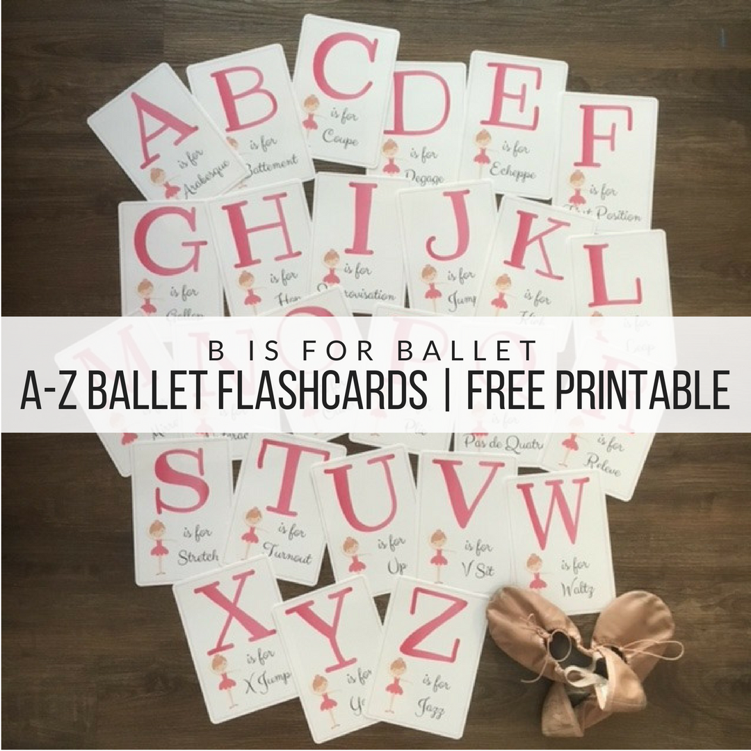 Free printable ballet flash cards