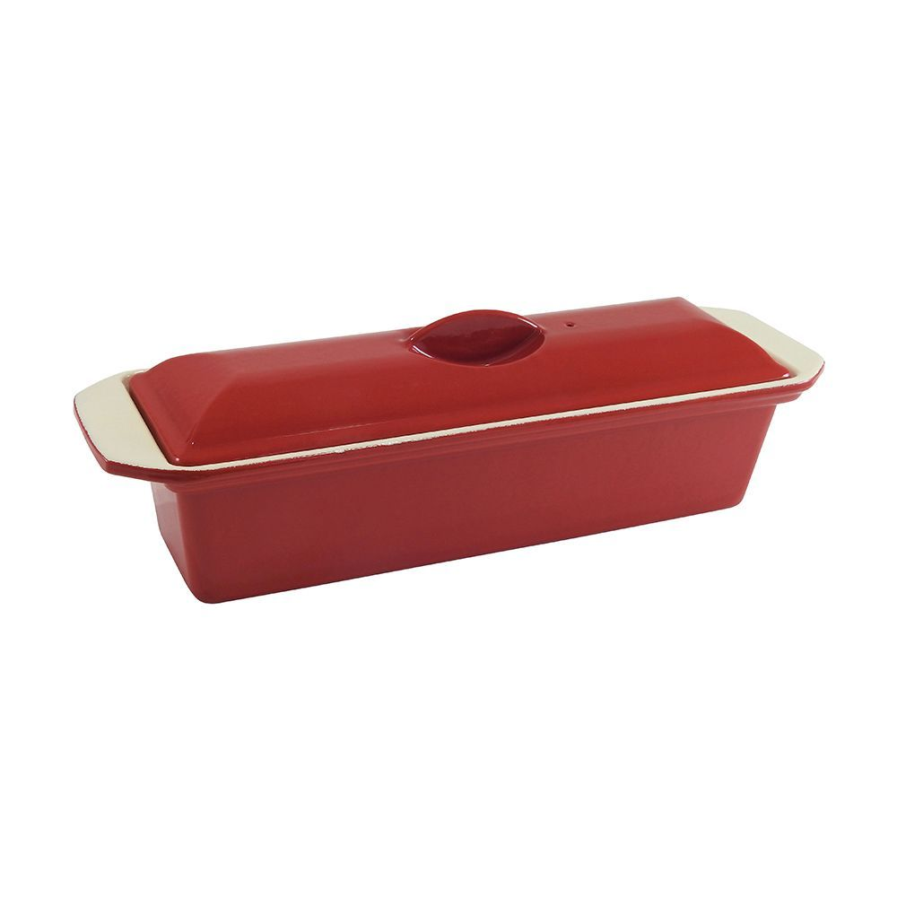 Chasseur Cast Iron Terrine 32cm Federation Red Bakeware Storage Bakeware Set Cast Iron