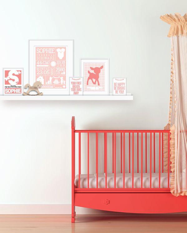 Unique Kinderzimmer Poster f r M dchen bei Printcandy einfach selber euer Baby Poster Design online gestalten