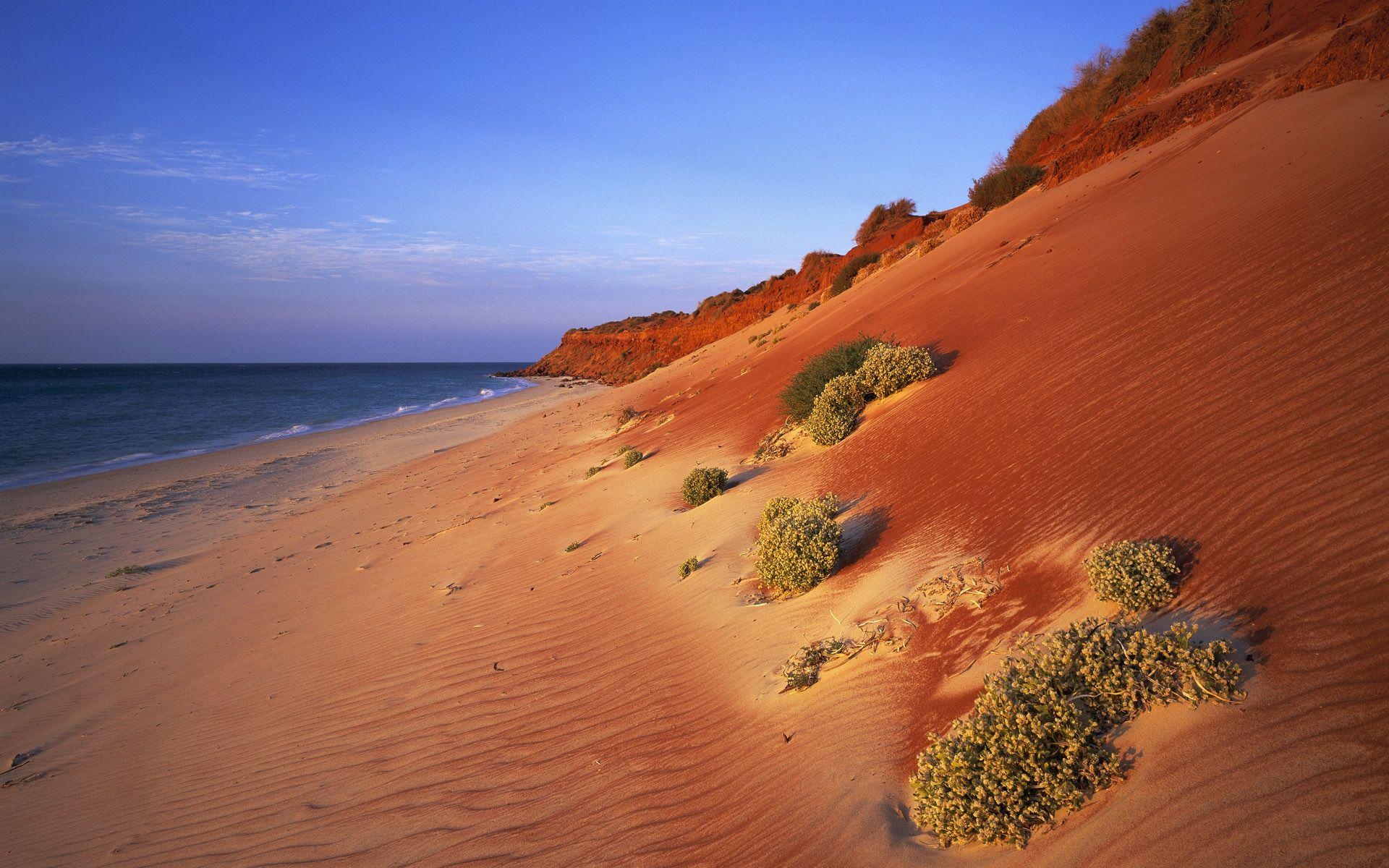 Dune Quote Wallpaper Australian Coast Desert Ocean Red Sand Sea Hd Wallpaper