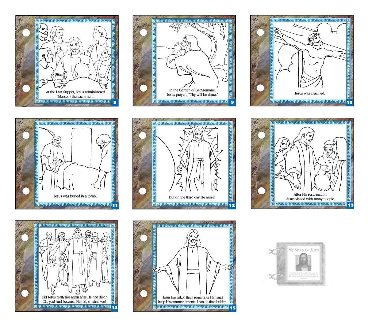 My Story of Jesus Easter coloring pages, Lds coloring