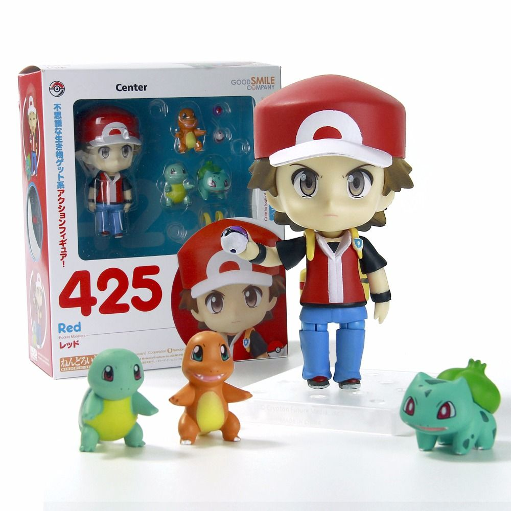 Ash Ketchum Blastoise Charmander Bulbasaur Action Figures Pokeball Powerbank Pokemon 12000mah Senter Flashlight Samsung Cell Toys Set Change Face Hand 425 Red