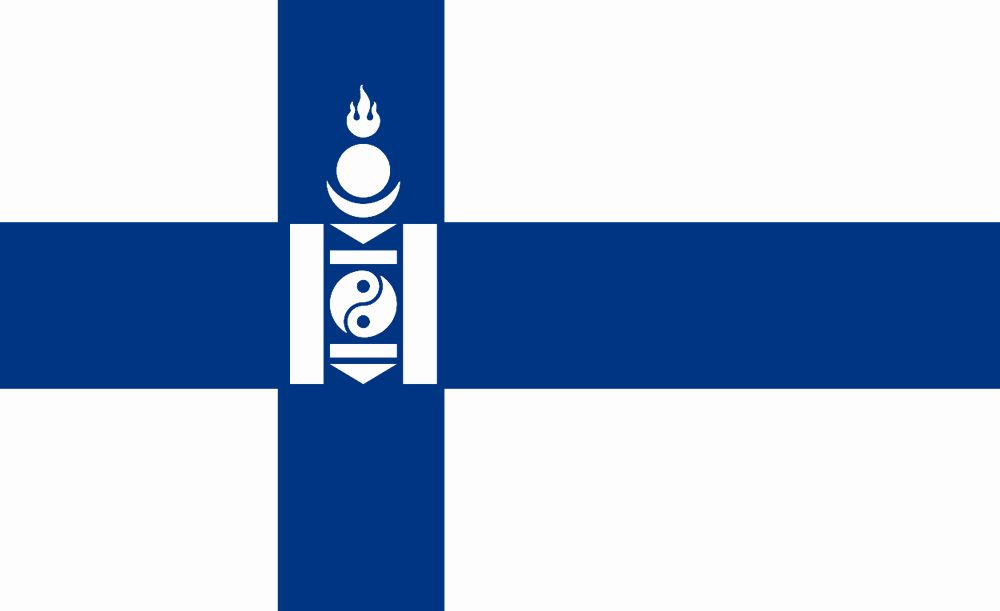 Finland Flag Coloring Page New Flag Of Finngolia Finland Mongolia By Otakumilitia On