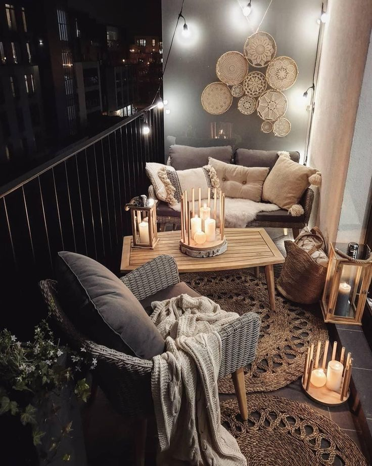 Photo of Boho Balkon Bohemian Interior Decor auf Instagram: Via @ chilledhome Kerzenlicht…