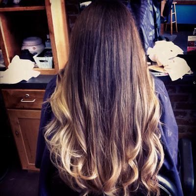 long hair with blonde ombre