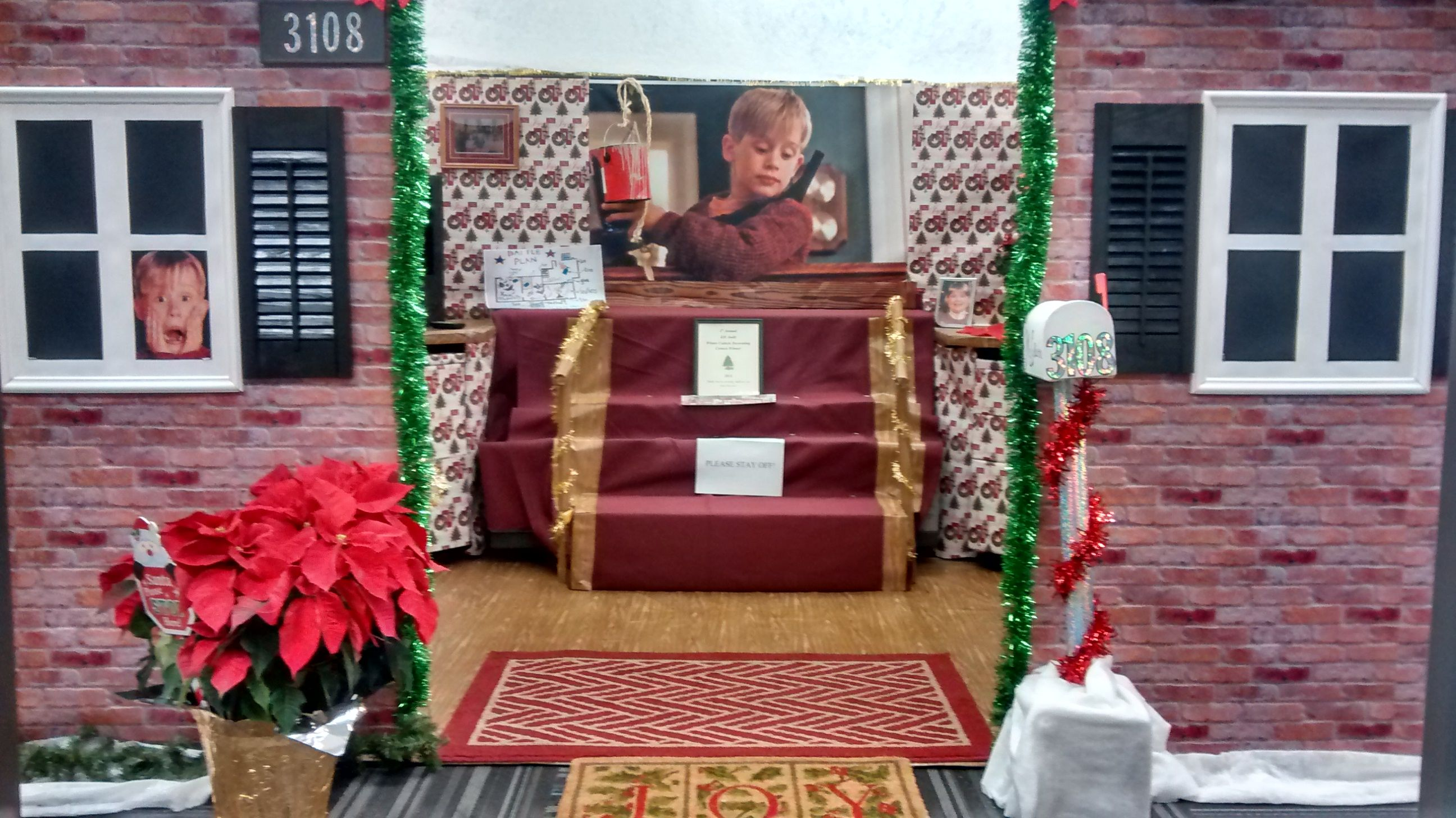 Front Side Of Cubicle Christmas Themes Cubical Decor Ladder Decor