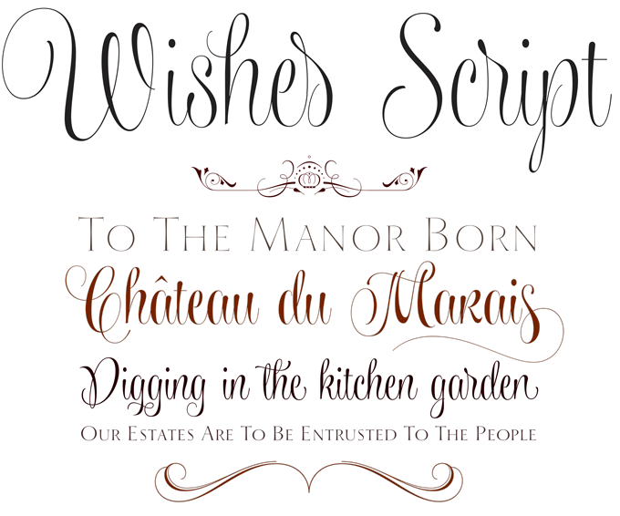 Wishes script font sample type specimens pinterest