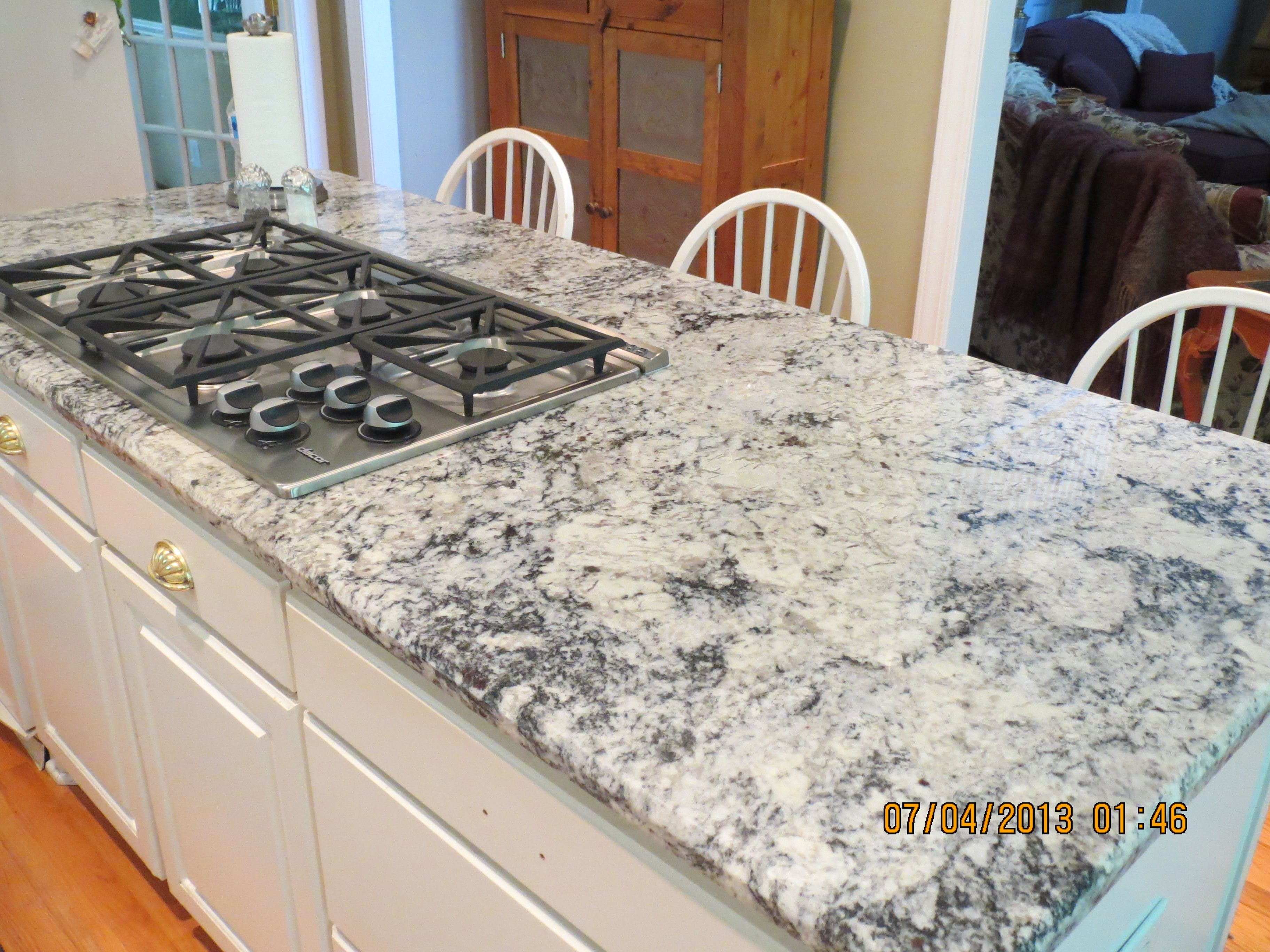 Carolina White granite from World Stone Distributors installed by