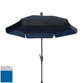 Fiberbuilt Home Pacific Blue Market Patio Umbrella (Common: 7.5-Ft W X 7.5-Ft L; Actual: 7.5-Ft W X 7.5-Ft L) 7Gcrcb-Pac