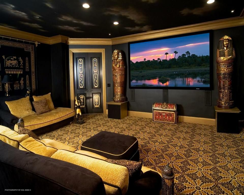 Have fun with your designs! This Egyptian Themed Home Theater is ...