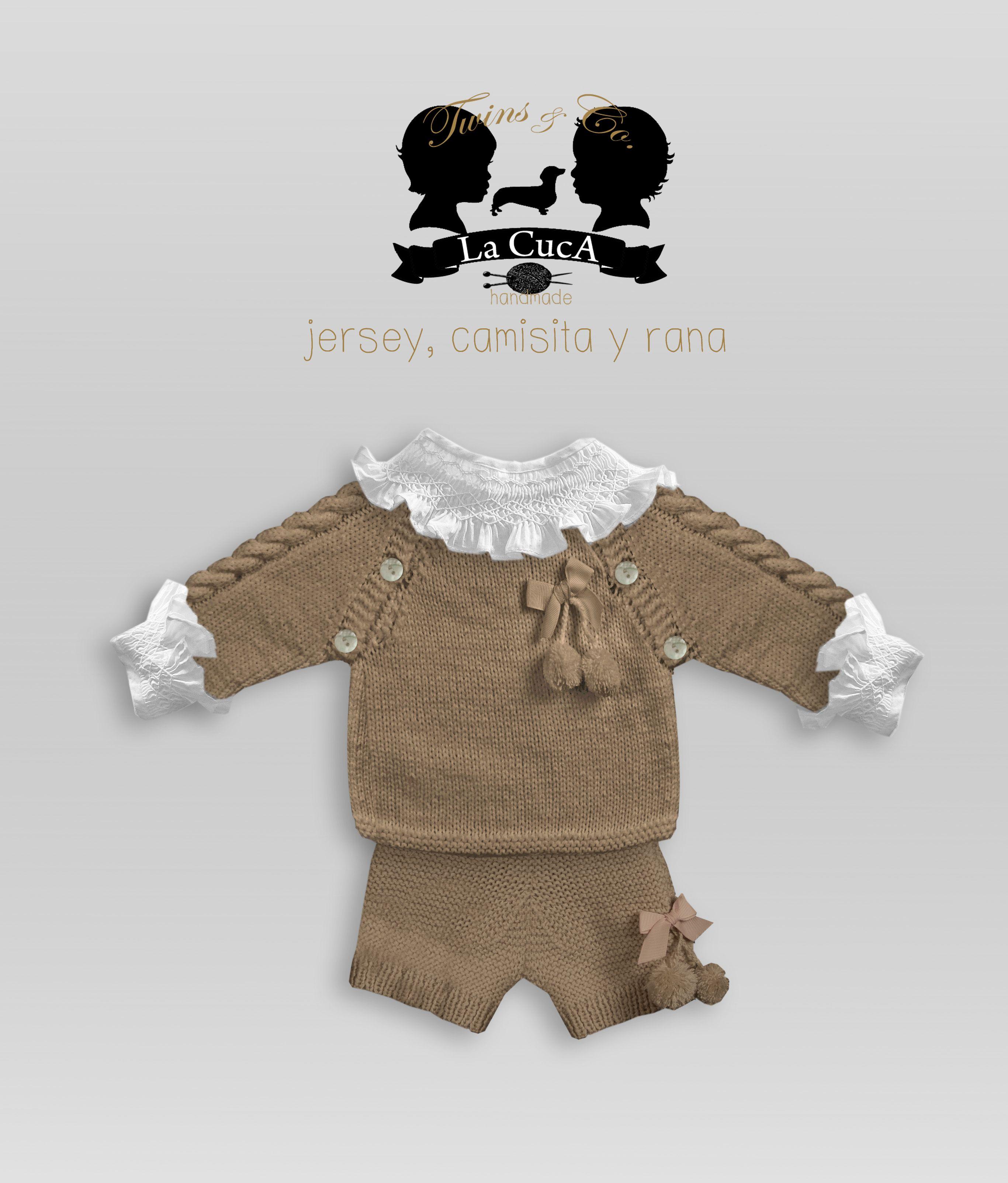 Jersey y rana hecho a mano en lana. Nueva colección Twins   boutique ...