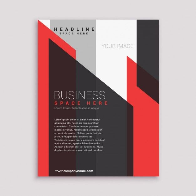 Dépliant D'affaires Modèle De Conception De La Brochure Dans Les Tons Noir Et Blanc Rouge | Téléchargez maintenant des vecteurs gratuits sur Freepik