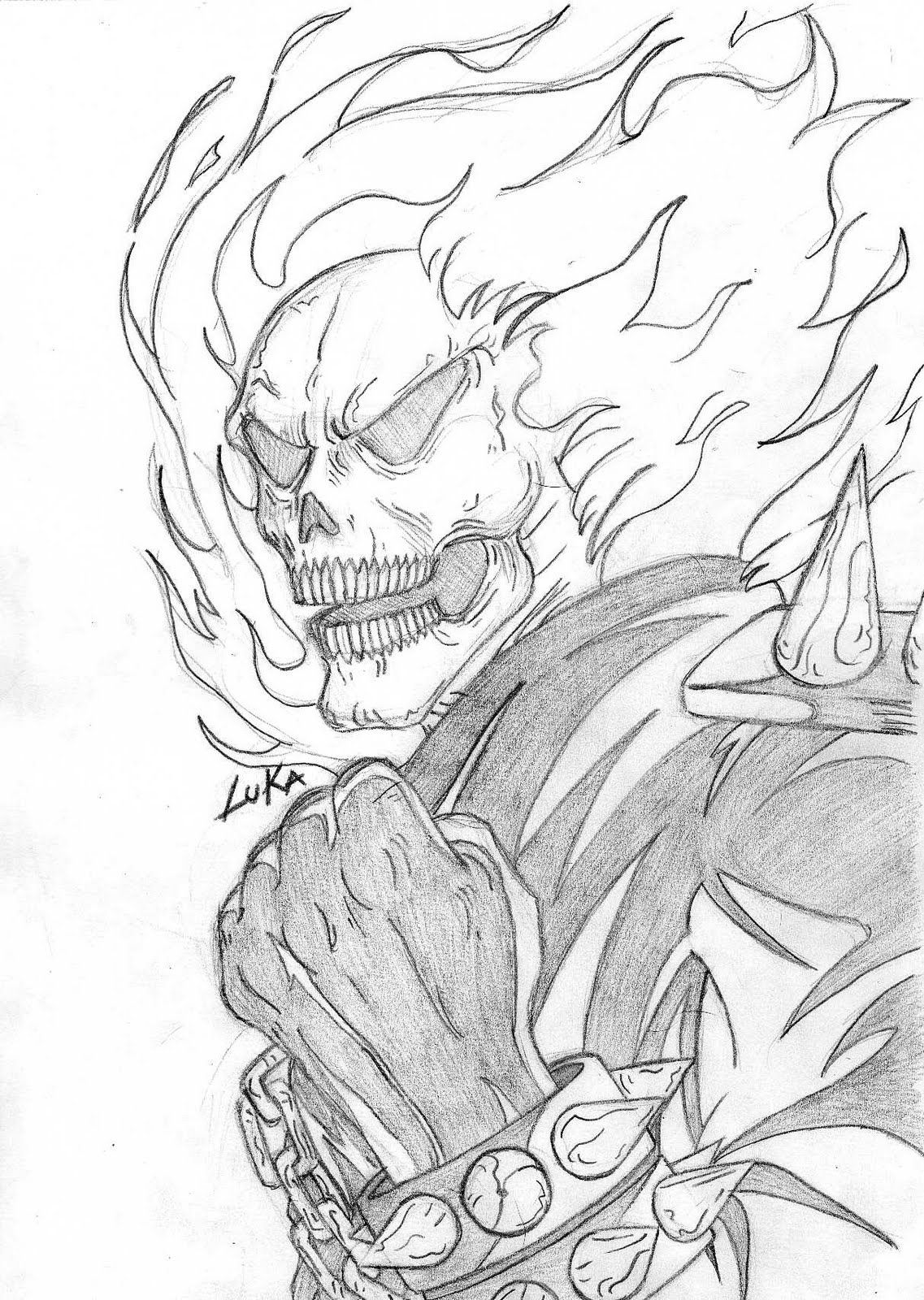 Free coloring pages ghost rider