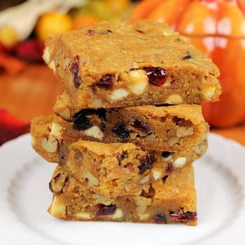 Best Ever Pumpkin Blondies {gluten free option} Recipe