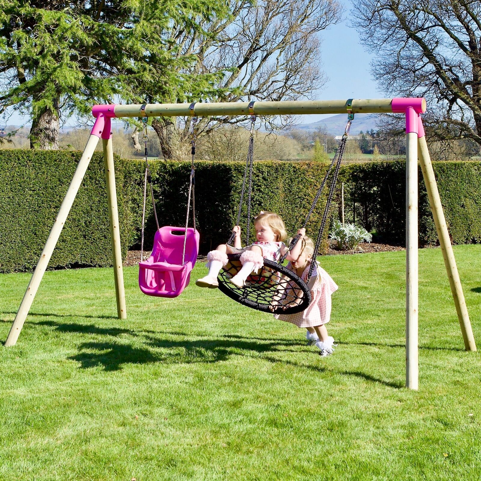 Rebo Junior Range Wooden Garden Swing Set Different Styles Wooden Garden Swing Garden Swing Sets Garden Swing