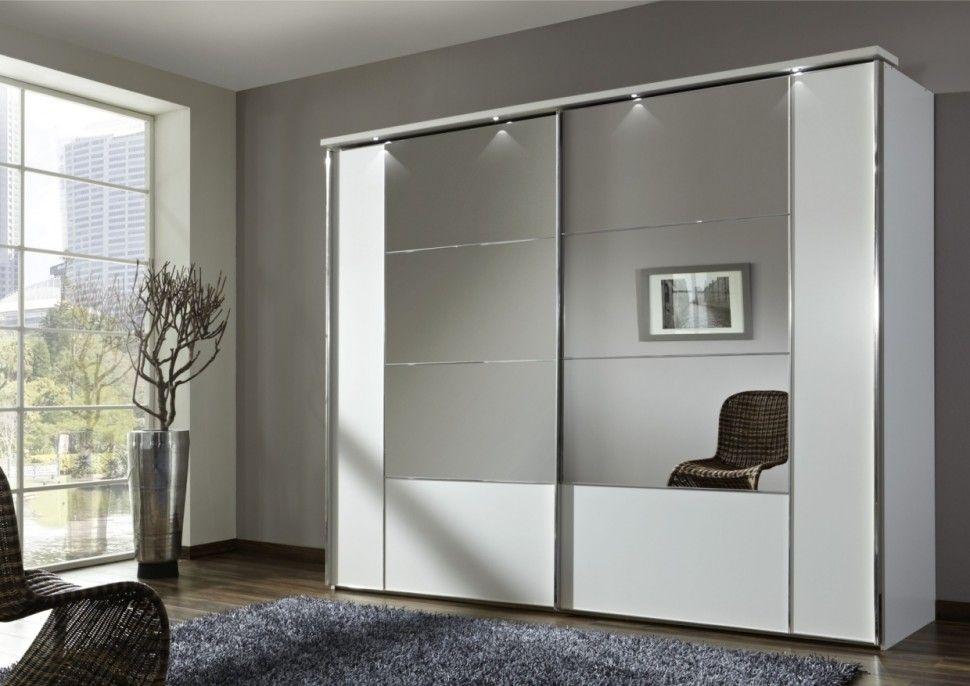 Interior:Nice Looking Closet Mirror Sliding Wardrobe Doors With Grey ...