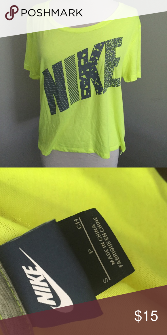 c54feda5 Nike Women's tee Oversized tee, neon yellow Nike Tops Tees - Short Sleeve