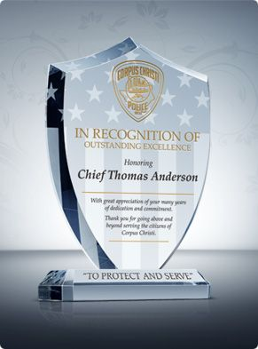 honor police officers and county sheriffs who go above and beyond the call of duty with this personalized police officer plaque hand cut into the shape of
