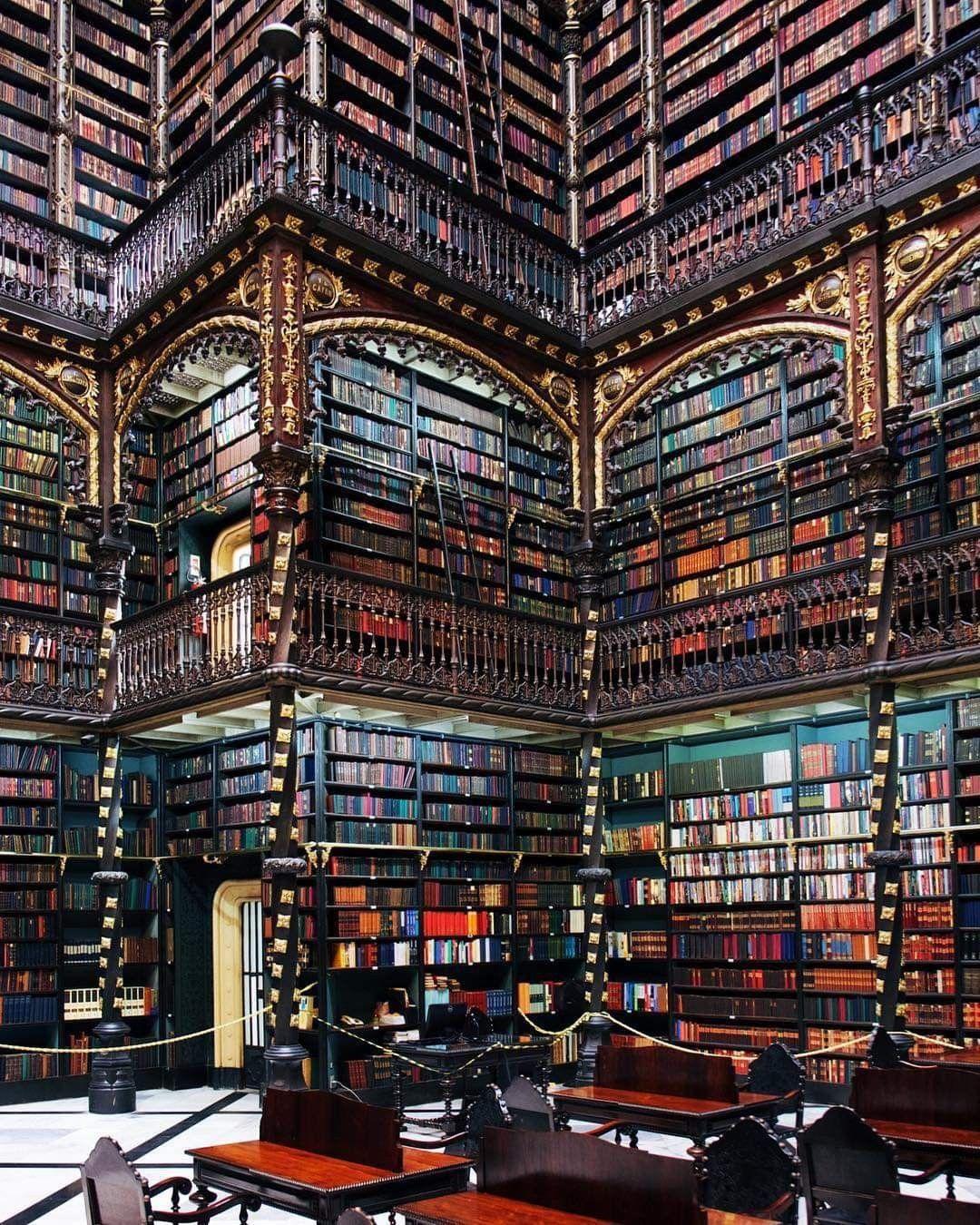 Royal Portuguese Cabinet Of Reading By Rafael Da Silva E Castro
