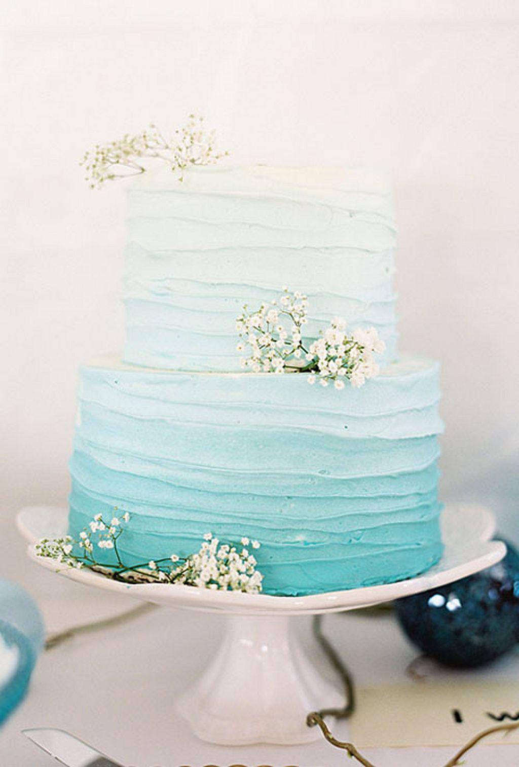 Pastel blue wedding decor   Stunning Beach Wedding Ideas  Beach weddings Beach and Weddings