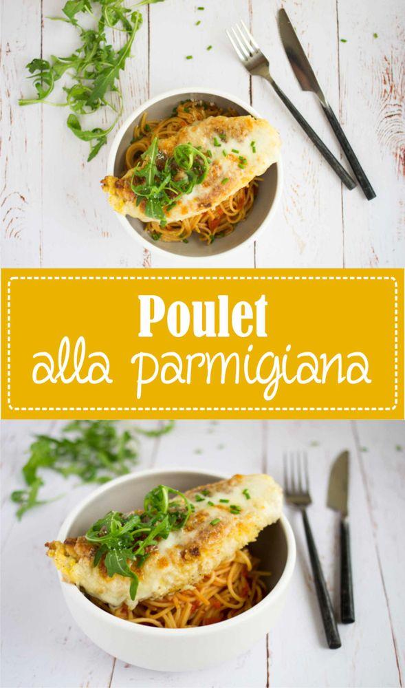 Poulet alla parmigiana mozzarella et parmesan recette sur la Godiche www.lagodiche.fr