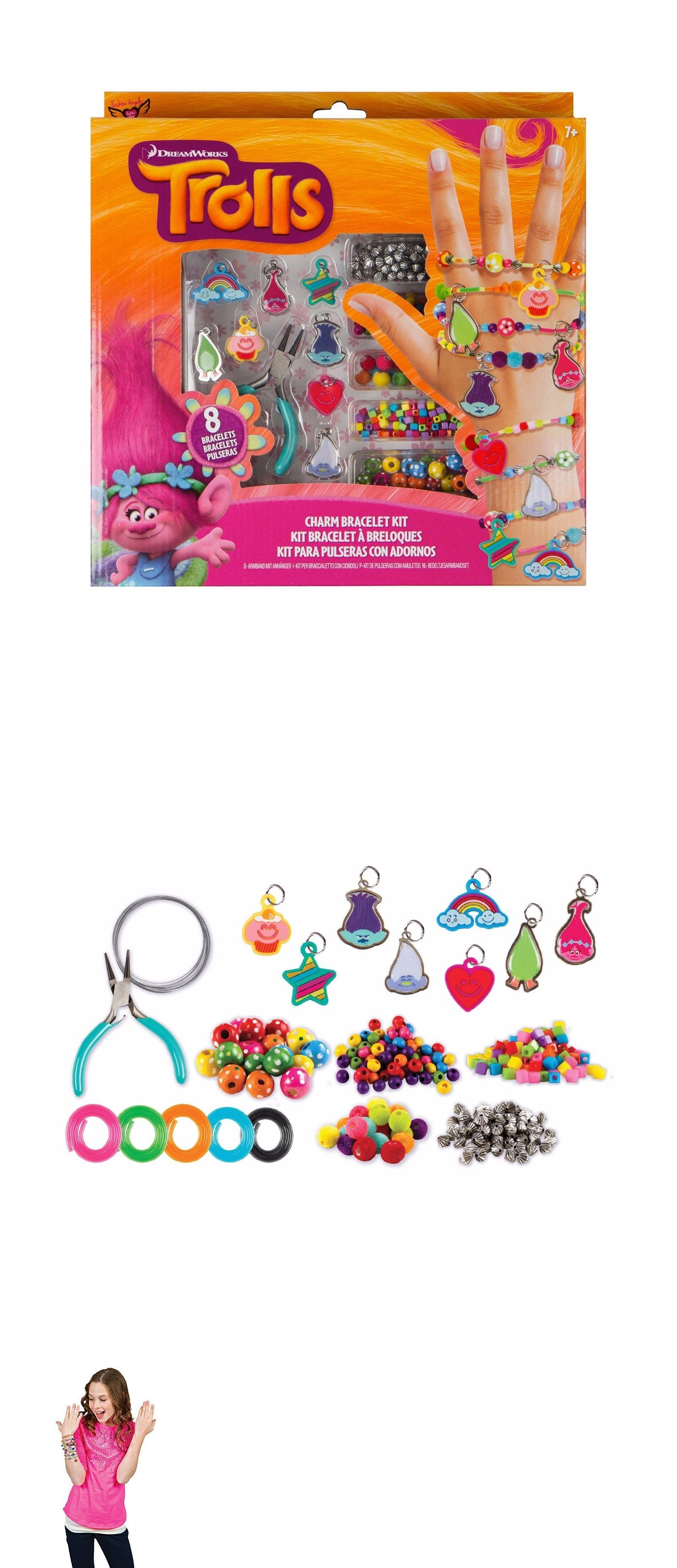 Bracelets trolls charm bracelet kit christmas gift for girls