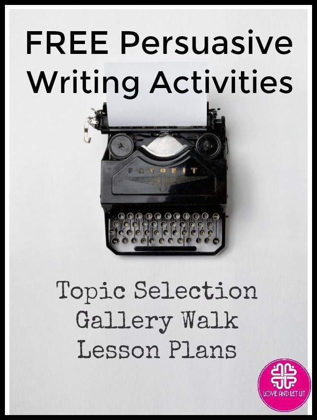 Persuasive  Argumentative Writing Activity for Topic Selection  a - unit lesson plan template