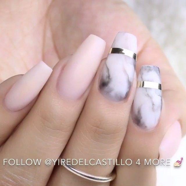 Marble nails @yiredelcastillo #GhalichiGlam #LillyGhalichi | uñas ...