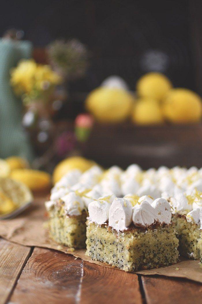 Zitronen Mohn Kuchen Mit Quark Creme Sommer Im Winter Rezept