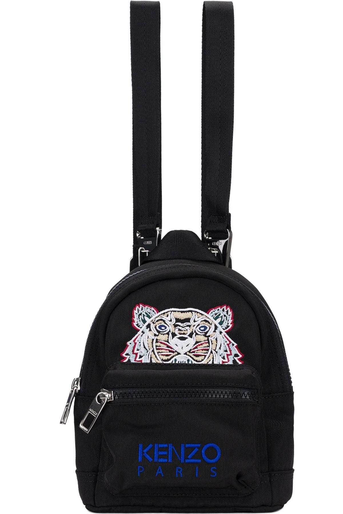 33b9a80dc3 Kenzo - Mini Tiger Canvas Backpacks - Black