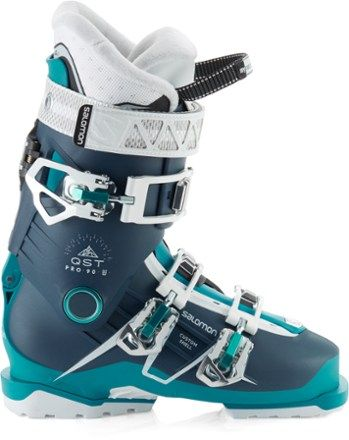 Salomon Women's QST Pro 90 Ski Boots Petrol BlueBlue 26.5