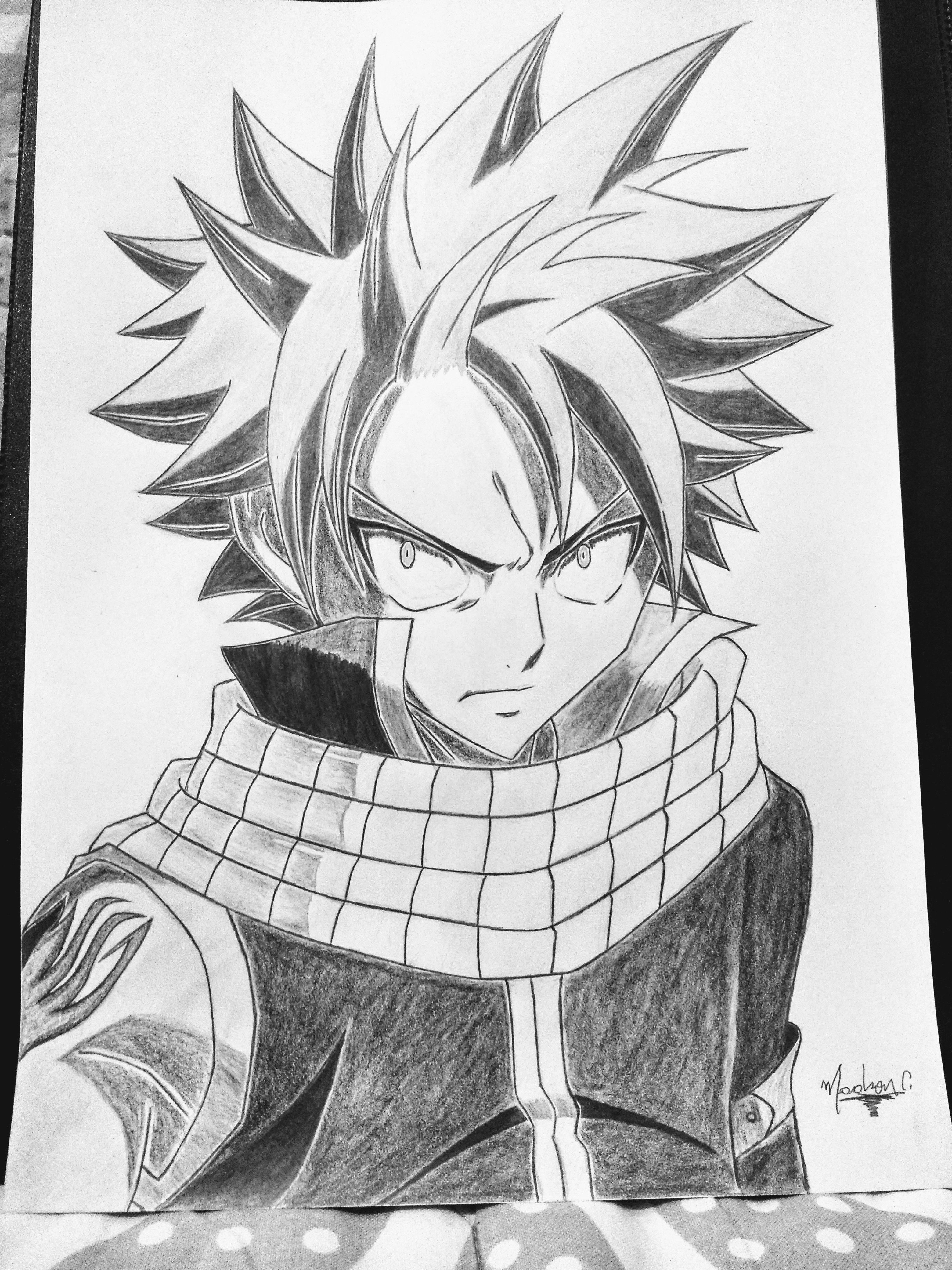 Natsu Dragneel From Fairy Tail Fairy Tail Anime Sketch Natsu