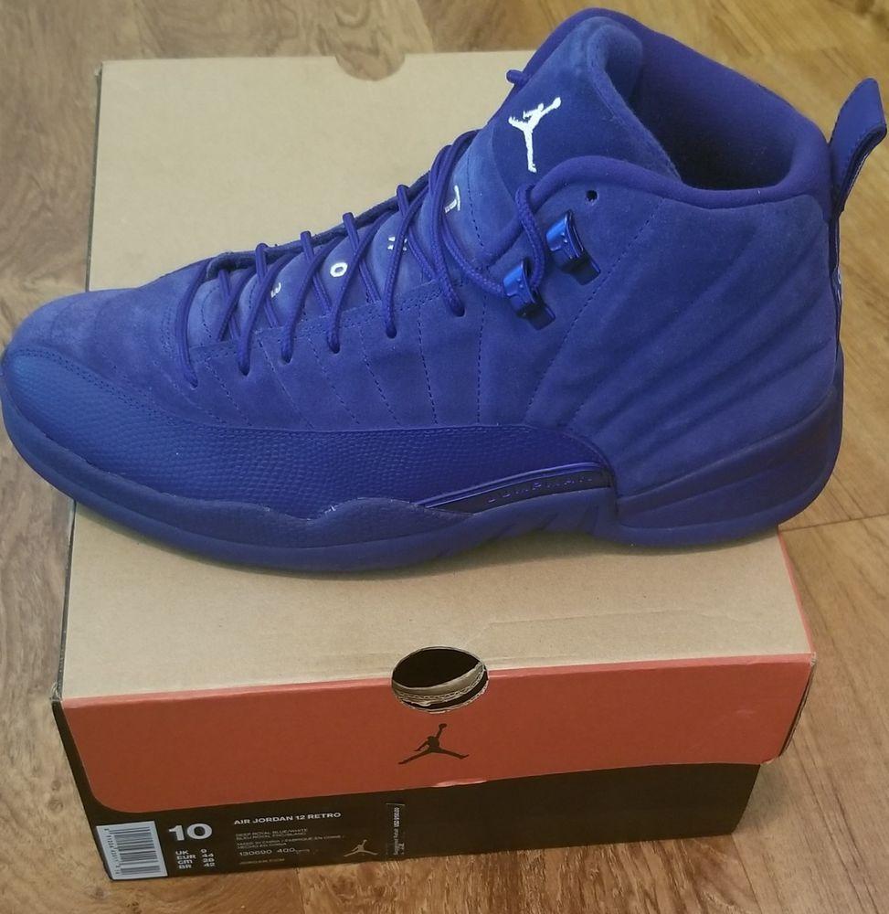 Nike Air Jordan 12 Retro Deep Royal Blue Suede Size 10  fashion  clothing   397697d44