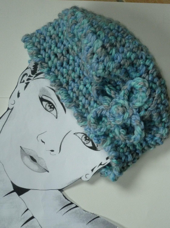 Blue  Womens Crochet Basque winter hat and   Fashion di Babaluccia, $27,00