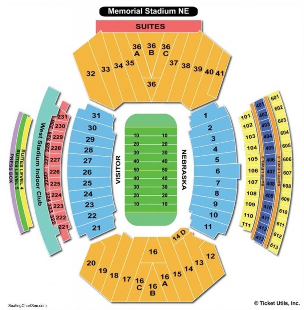 Elegant As Well As Lovely Nebraska Memorial Stadium Seating Chart Seating Charts Nebraska Cornhuskers Football Chart