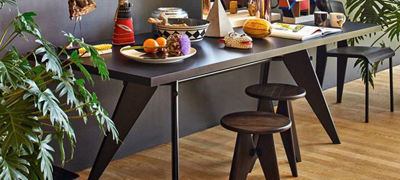 em table jean prouv 1950 vitra 1500 675 muebles pinterest. Black Bedroom Furniture Sets. Home Design Ideas