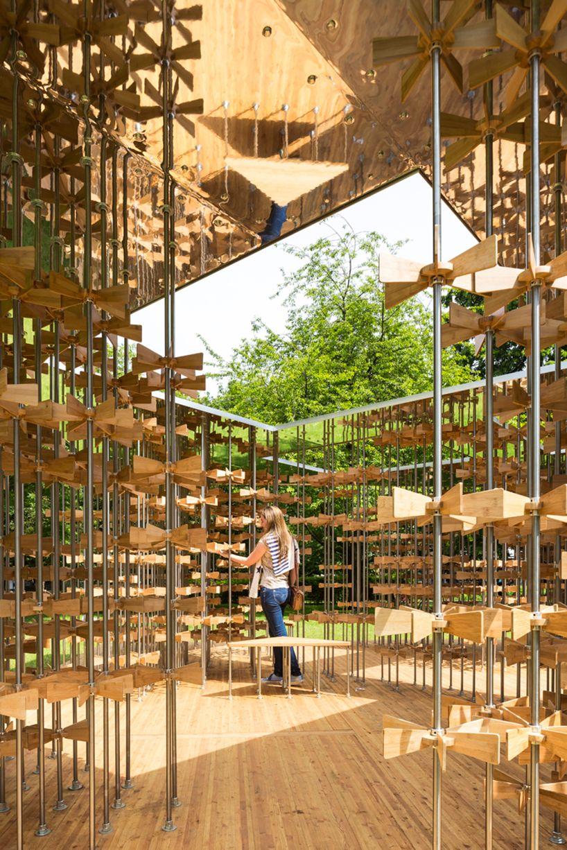 five line projects installs pinwheel pavilion in london | Pavilion ...