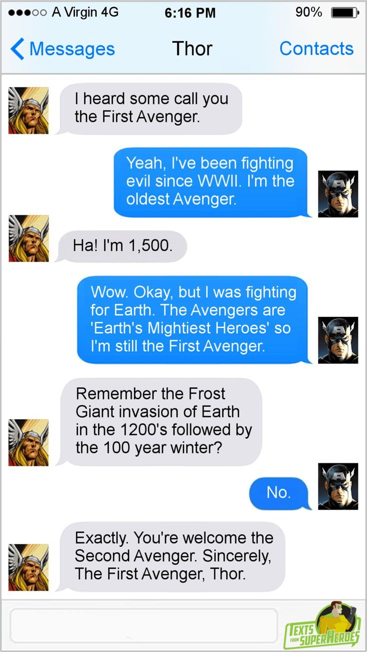 These 'Texts From Superheroes' Are Loki Hysterical #marveluniverse