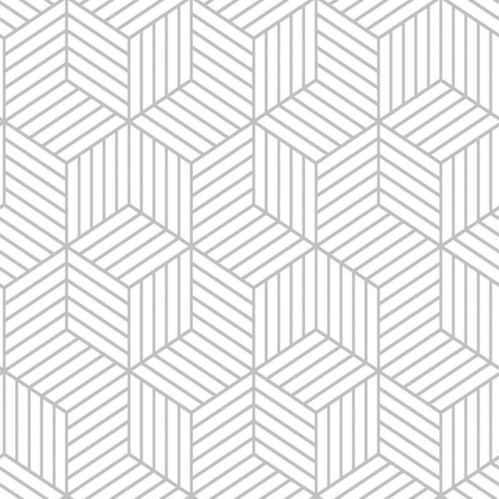 Roommates Striped Hexagon Peel And Stick Wallpaper Papel Pintado Decoracion De Unas Papel Decorativo