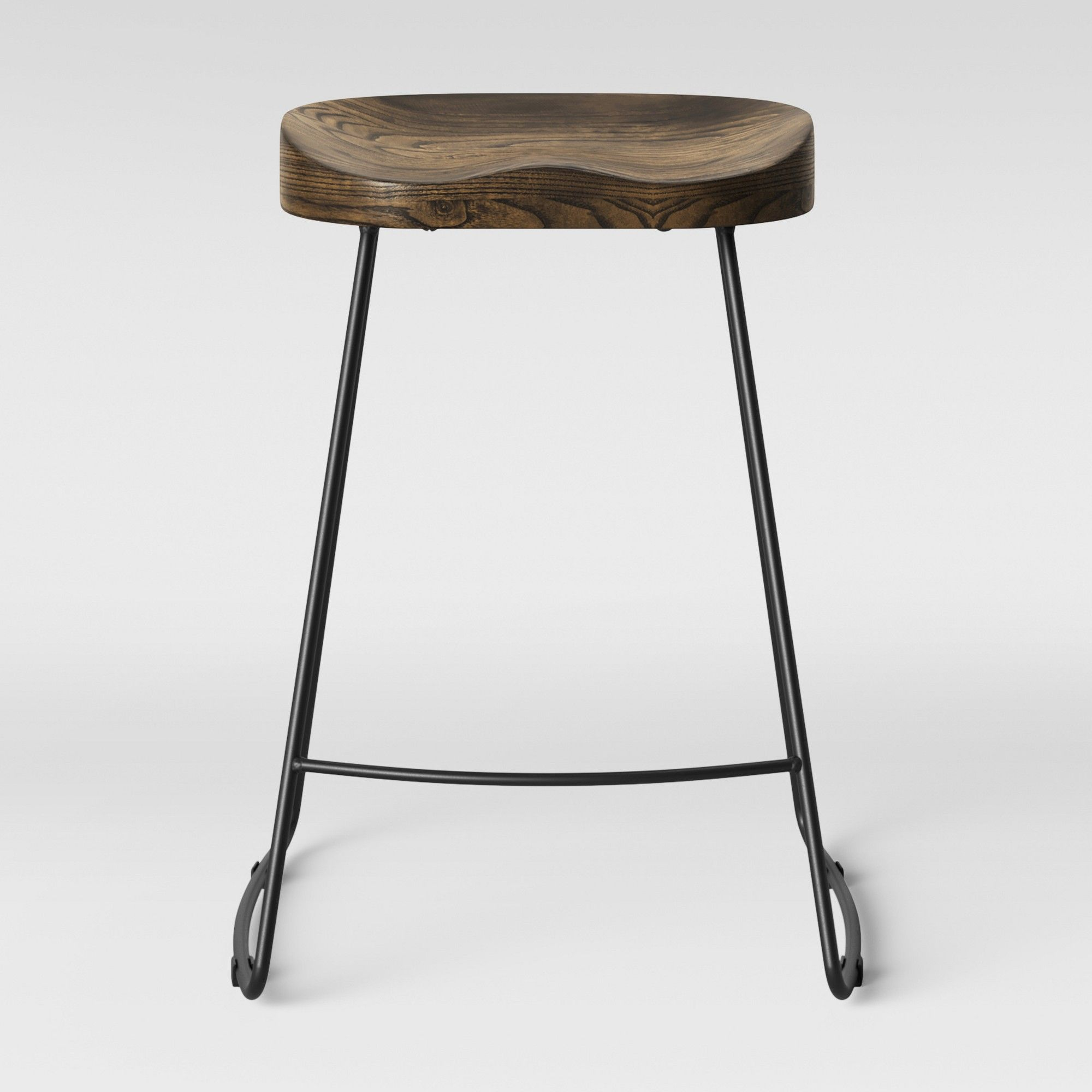 Amazing Hull Low Back Counter Stool Wood Metal Black Threshold In Dailytribune Chair Design For Home Dailytribuneorg