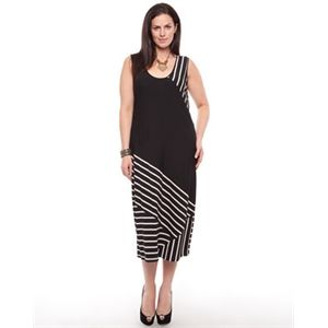 Free Woman - Jersey Stripe Dress - Dresses (Black & Cream Stripe)
