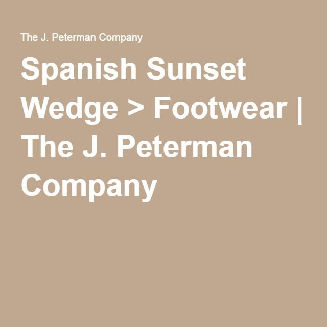 Spanish Sunset Wedge > Footwear | The J. Peterman Company