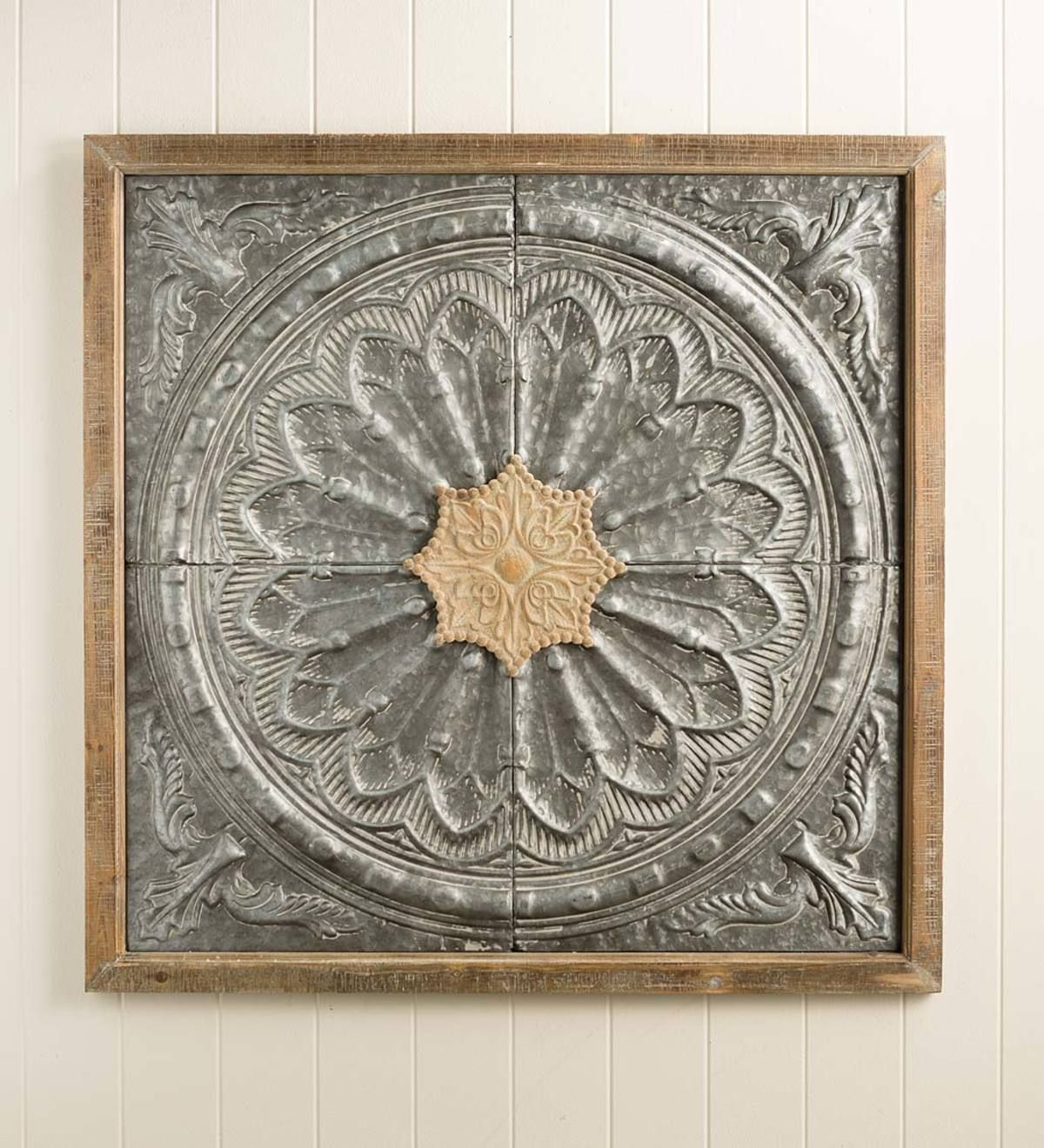 Our Antiqued Metal Medallion Wall Art Is A Statement Piece For Your Home At Nearly 3 Square Th Medallion Wall Art Pressed Metal Ceiling Medallion Wall Decor