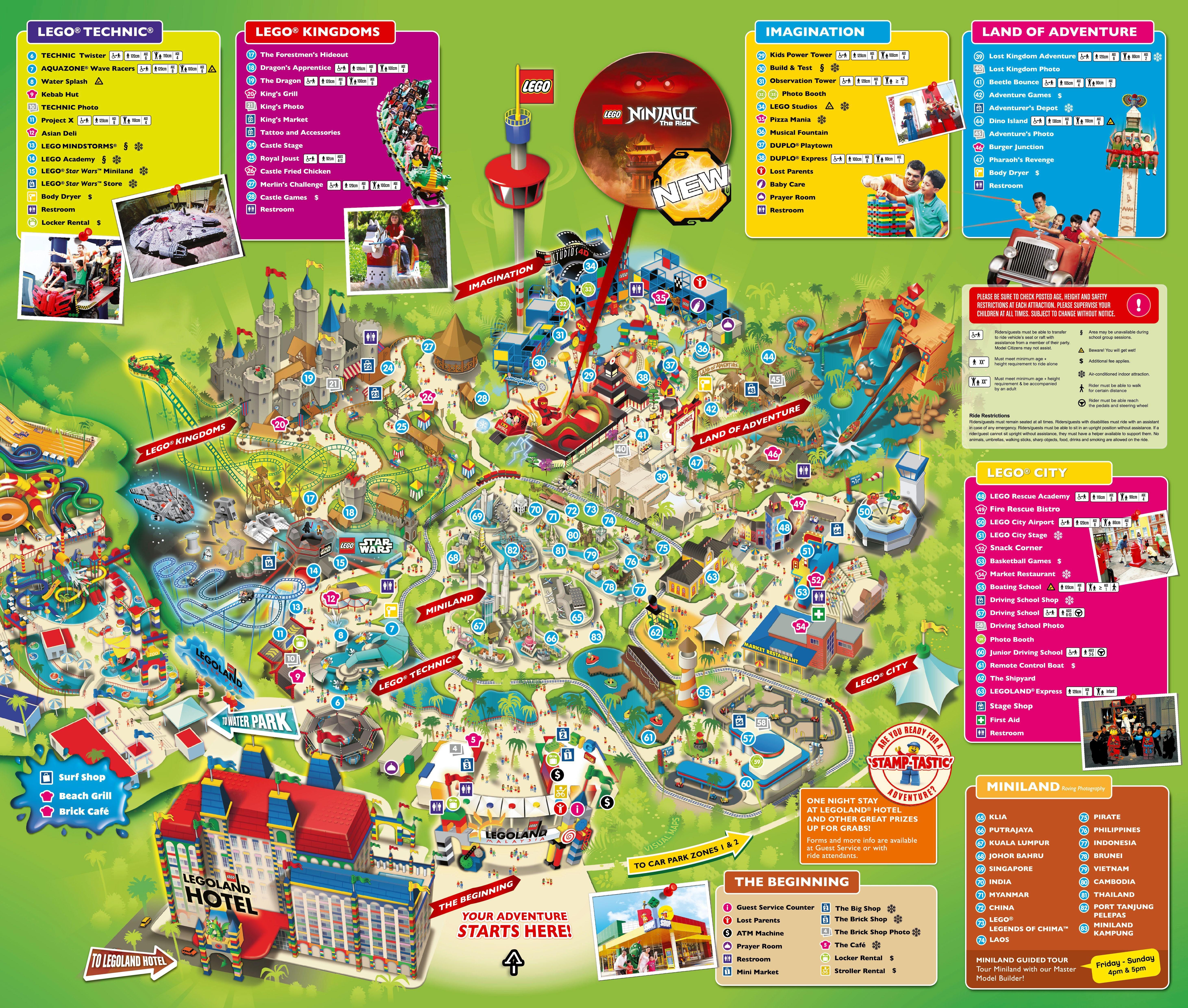 Legoland Malaysia Map 2017 | Legoland malaysia, Legoland ...
