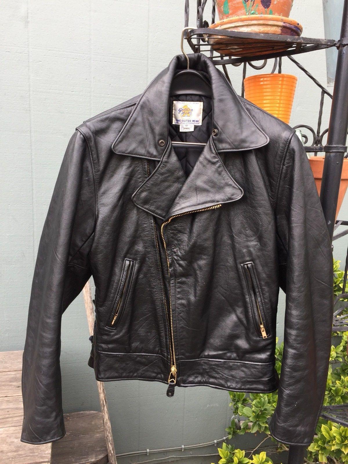 88a89ef49 Vintage 50s/60s STYLE Golden Bear Sportswear Leather Coat Jacket ...