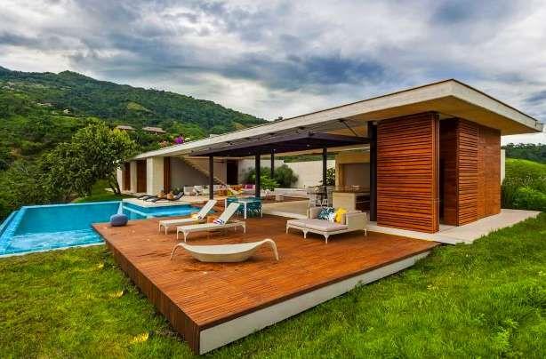 Casa de campo modernas de 1 solo piso buscar con google for Casas prefabricadas pequenas