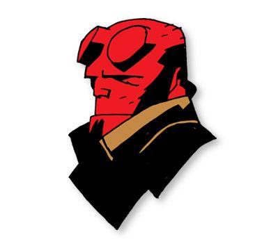 hellboy face cloisonne pin goth scout pinterest book shirts rh pinterest com Ghost Rider Logo Hades Logo